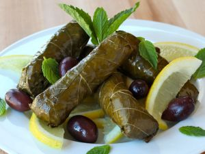 Stuffed-Grape-Leaves-Close